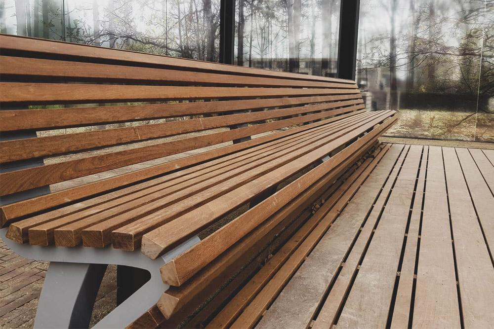 Bank van duurzaam Ipé hardhout