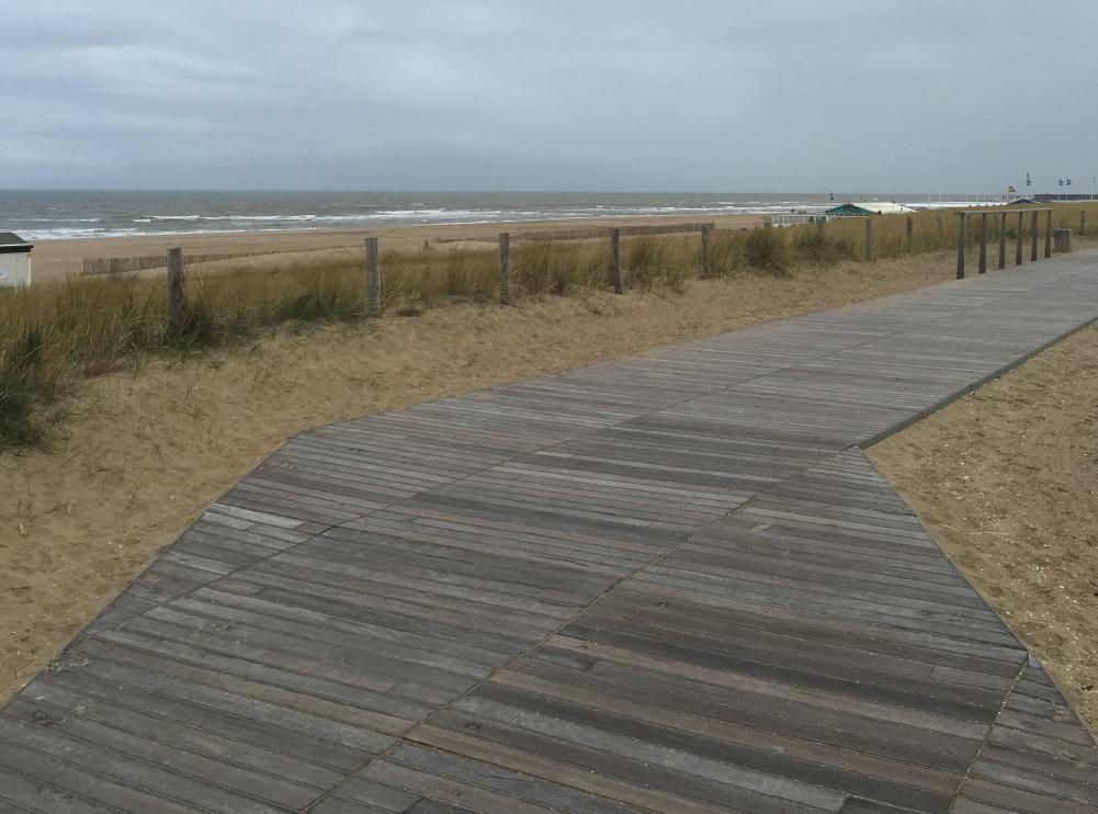 Cumaru gebruikt voor een strandpad