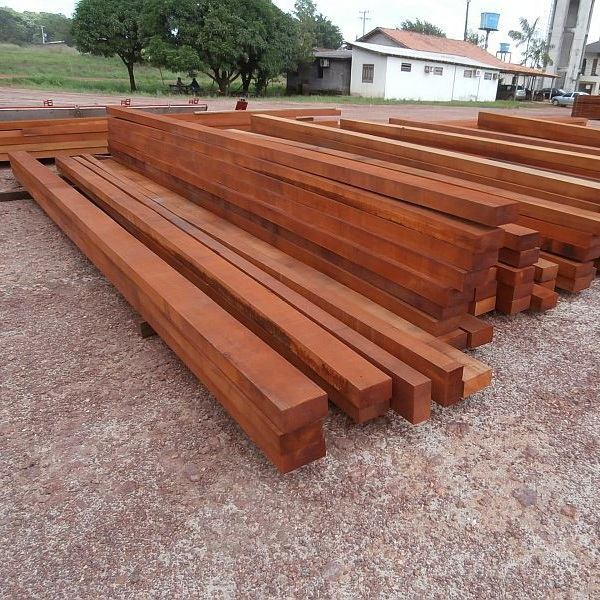 Jatoba beams wood.
