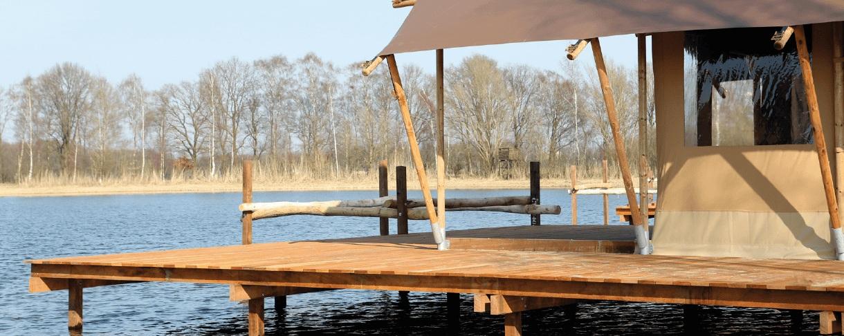 Vakantiepark Terspegelt steiger en vlonder hardhout