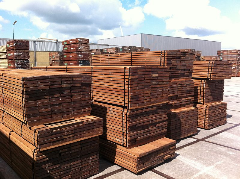 Ruw gezaagde Basralocus hardhout planken