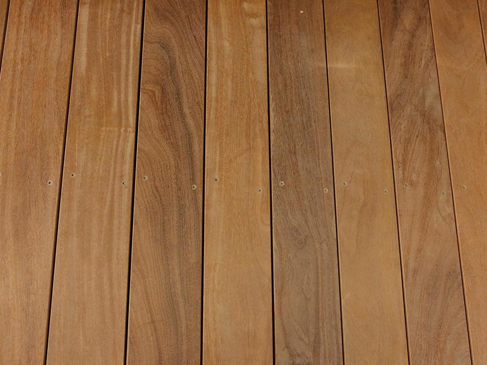 Bovenaanzicht close-up houten terrasvlonders