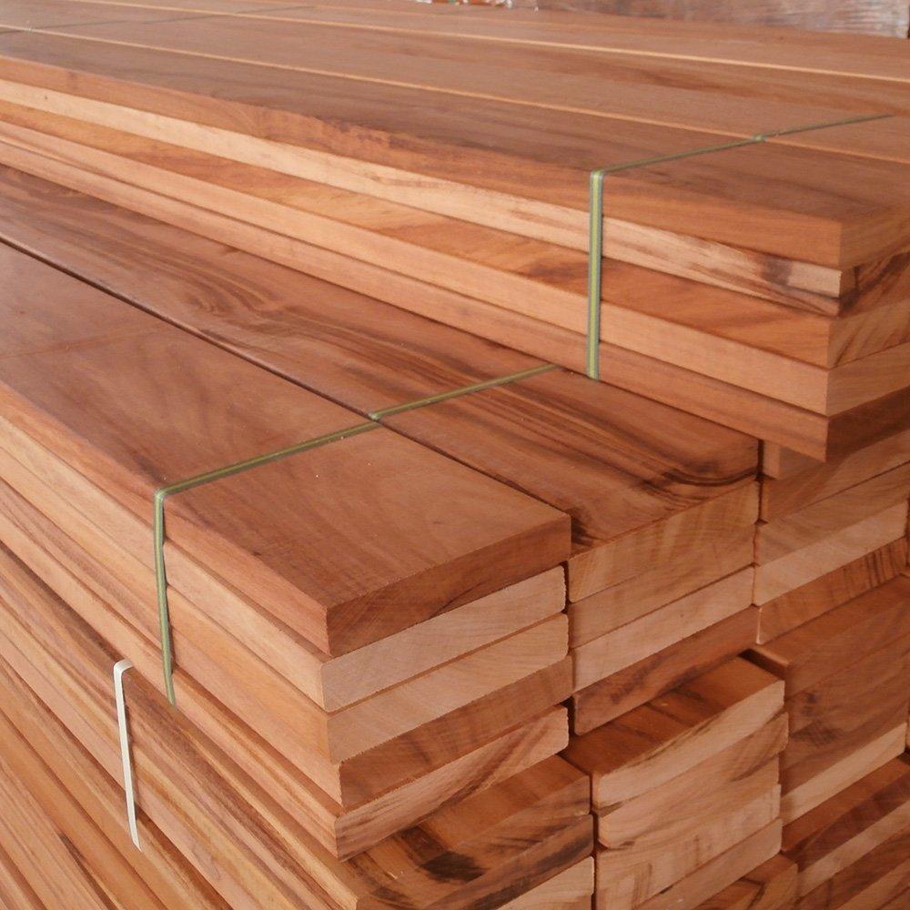 Sawn hardwooden planks custom made