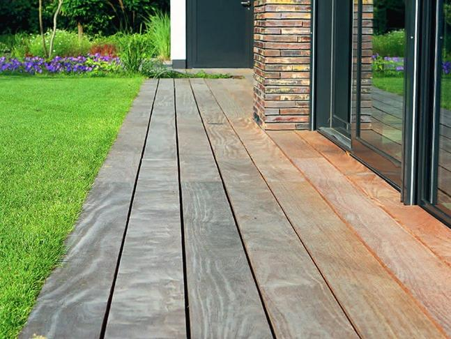 Fort oranje hardwood decking terrace